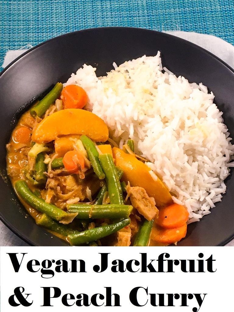 Vegan Jackfruit and Peach Curry