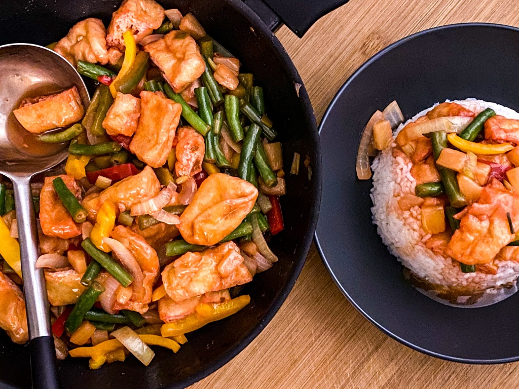 VEGAN SWEET & SOUR VEGETABLE STIR-FRY Gluten Free